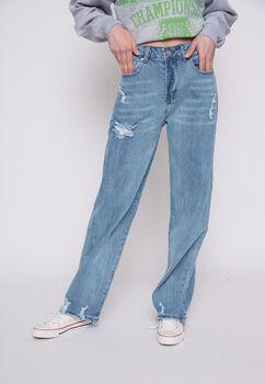 Jeans Basta Ancha Destroyer Azul Family Shop