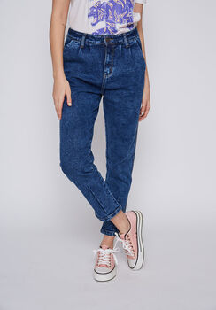 JEANS MUJER BLUE BAGGY AZUL
