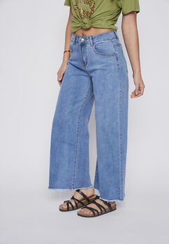 JEANS MUJER CULOTTE LIGHT BLUE